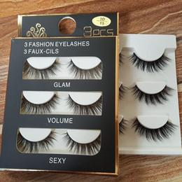Wholesale Handmade C - 3D mink hair false eyelashes 8 Styles Handmade Beauty Thick Long Soft Mink lashes Fake Eye Lashes Eyelash Sexy High Quality DHL freeshipping