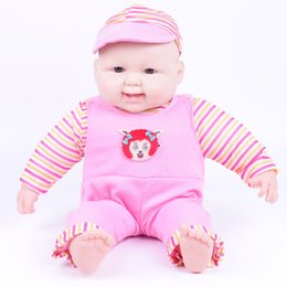 Wholesale Baby Cloths China - 50cm silicone lovely fat face baby doll 21inch reborndolls of boy and girls for kids gift
