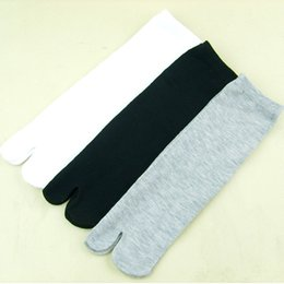 Wholesale Wholesale Tube Socks For Women - Wholesale-The single bamboo fiber finger Japanese tabi socks in tube socks wholesale toe socks For men and women to wear clogs Outside