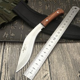 Wholesale Daggers Knives - FREE SHIPPING New Nepal mini machete Full Tang Survival Kukri Machete Bowie Knife VTH88