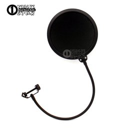 Wholesale computer screens - Double Layer Condenser Microphone Pop Filter Mask Shied Gooseneck Windscreen For Boom Mic Stand Computer Video Recording Studio Wind Screen