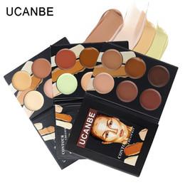 Wholesale Corrector Palette - Wholesale-UCANBE Professional Cosmetic face 6 colors contour cream Makeup Camouflage foundation base primer corrector contouring palette