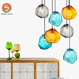 Wholesale Office Room Colors - New arrive modern LED crystal glass pendant lights 225*250mm 3 colors appearance with 3W G4 led bulb inside AC110-240V DHL free shipping