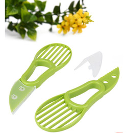 Wholesale Digging Tools - 3 in 1 Avocado Slicer Multifunction Pulp separation dig nuclear tool new Fruit Tools Plastic knife high quality Can printed logo wholesale