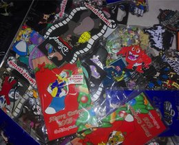 Wholesale Cartoon Badges - sell random 10 pins Badge lapel pin metal pin come with back cards 3D+5LE PINS