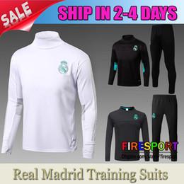 Wholesale Football Training Pants Tight - 2017 Madird Marseille LYON training suit survetement chandal football shirts 17 18 Long sleeve tight pants tracksuits Uniform Kits