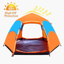 Wholesale Open Rain - Camping Tent 3-5 People 2 Layers Auto Open Tent Portable 6 Angles Rain Proof Outdoor Camping Hiking Travel Tents