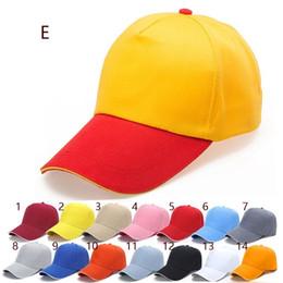 Wholesale Advertising Caps - 2017 Diy embroidered baseball cap advertising five polyester hat custom duck tongue wholesale printing custom logo