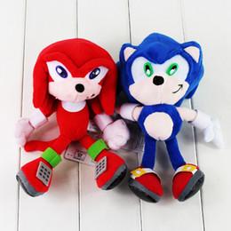 Brinquedo macio sônico on-line-21-23 cm Sonic The Hedgehog Brinquedos De Pelúcia Macia Boneca de Pelúcia Recheado para Crianças Presente Frete Grátis varejo