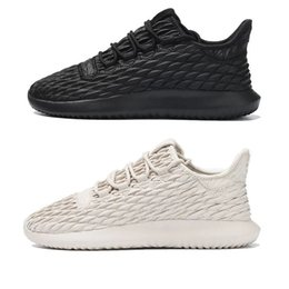 Wholesale Tattoo Women Black - 2017 original Tubular Shadow Running Shoes for men and women Tubular Shadow Thorns tattoo all black 3D 350 Sneaker sports Shoes us 5-11