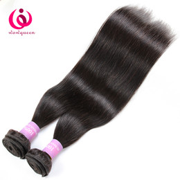 Wholesale Cheap Quality Hair Extensions - Peruvian Human Straight Hair 8A Remy Hair 2pcs lot Wow Queen Products Cheap Price and High Quality Peruvian Virgin Hair Extensions