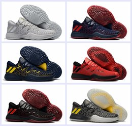 Wholesale Basketball Ball Size - 2017 New Harden Vol. 2 Mens Low Basketball Shoes Black Red Gray Fashion James Hardens Sports Basket Ball Sneakers Size 40-46