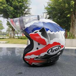 Wholesale Motorcycle Cross Helmets - Free shipping New ARAI New motorcycle helmet racing helmet cross country half helmet men and women sunscreen helmets 2017