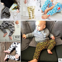 Wholesale Leopard Print Baby Girls Pants - Baby INS Pants Leopard Fox Dinosaur PP Pants Toddlers Geometric Figure Animal Trousers New Boys Causal Pants Girls Fashion Leggings J448