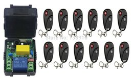 Wholesale 433mhz Remote Relay - Wholesale- Universal Wireless Remote Control Switch AC220 1ch relay Receiver Module RF Remote 315MHz 433MHZ Transmitter with Two-button