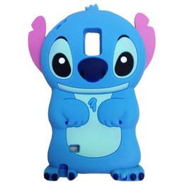 Wholesale Stitch Back Case - 3D Cartoon Blue Stitch Case For Samsung S7 S6 Edge Plus Note 2 3 4 5 7 Note2 Note3 Note4 Note5 Note7 Soft Rubber Silicone Phone Back Cover