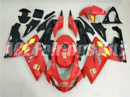 Wholesale aprilia rs125 fairing set - Three free beautiful gift new high quality ABS Injection fairing plates for Aprillia RS125 2006-2011 RS125 RS4 bodywork set nice red black