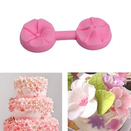 Wholesale Tools Decorate Wedding Cake - Flower Silicone Fondant Wedding Cake Mold Soap Mold Chocolate Candy Mould Moulds DIY Decorating Baking Pink Kitchen Tools