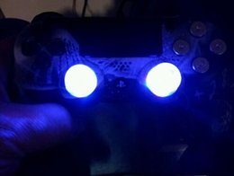 Wholesale Flashing Caps - Cool DIY Grips LED thumbsticks Analog flashing thumb stick Joystick caps with light for Playstation 4 PS4 (Color changing)