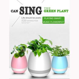 Wholesale Piano Desktop - Bluetooth Music Flowerpots Intelligent Bluetooth Speakers Night Light Wireless Flower Pot Smart Piano Music Playing Planters