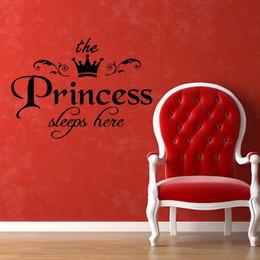 17a04504222d6 sleep quote Promotion Princesse Dort Bébé Enfants Fille Citation Mur Mignon  Autocollants Art Chambre Chambre Décalques
