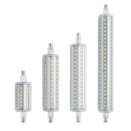 führte halogenleuchten Rabatt führte Lamparas Dimmable R7S LED Maislicht 78mm 118mm 135mm 189mm Licht 2835 SMD Birne 7W 14W 20W 25W ersetzen Halogenlampe Bombillas