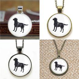Wholesale Dogs Earring - 10pcs Black Labrador Dog lds Mormons ctr Gift for Him Glass Photo Necklace keyring bookmark cufflink earring bracelet