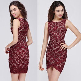 3499672342e Club vestidos usa online-2018 nuevo diseño vestidos de cóctel de encaje  falda real de