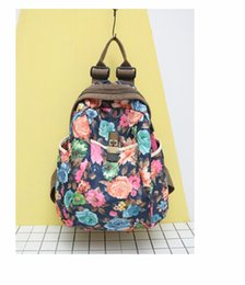 Wholesale Cool Backpacks For Boys - cool girl fashion casual Graffiti flower Printing fashion Backpacks for Teenagers boys and girls Students Campus Backpacks 2017922004