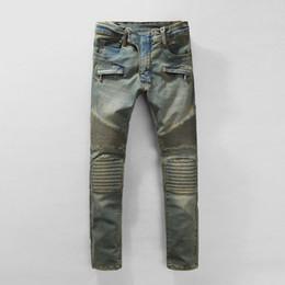 Wholesale Denim Boys - Fashion Runway Biker Jeans Mens New Arrival Design Slim Fit Jeans For Men Good Quality Blue Black Casual Denim Pants Boy Skinny Jeans