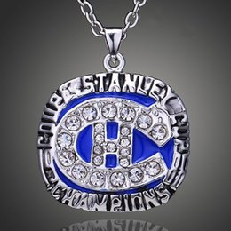 Wholesale Montreal Tin - 2017 New.N.H.L.champion necklace Fans Souvenir Collection 1986 Montreal Canadiens Champion necklace Fashion Jewelry