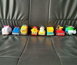 bus jouet vert Promotion PL retour en Corée du Sud Q version voiture école de pompiers et voiture en plastique jouet robot voiture retour communication parent-enfant, jouet interactif exempt