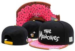 Wholesale cayler sons cap - Cayler & Sons pink the MUNCHIES lack of angle hip hop baseball caps snapback hats for men women bone cap snap back casquette