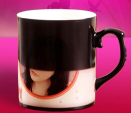 Wholesale Wholesale Personalized Photo Gifts - Wholesale- Color-changing ceramic mug cup of bone china, photo logo printing is workable as personalized gifts