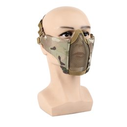 Proteger paintball online-Tactical Half Face Mask Proteger Metal Net Steel Boca Paintball CS Accesorios