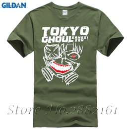 Wholesale tokyo ghoul shirts - Fashion Tokyo Ghoul Jin Muyan Printed Anime Men T-Shirt 2017 Summer New Short Sleeve O-Neck T Shirt Streetwear Hip Hop Tops Tee