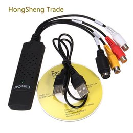 Wholesale Generic Videos - Generic USB 2.0 Easycap Dc60 Tv Dvd Vhs Video Adapter Capture Card Audio Av Capture Support Windows Xp 7 Vista 32 WIN10