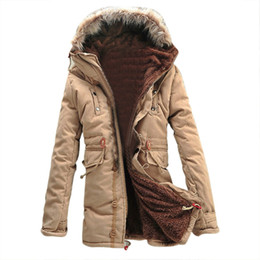 Wholesale Duffle Trench - Wholesale- SAF-Winter Warm Fleece Parka Dreadnought Trench Jacket Duffle Coat