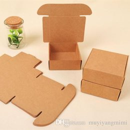 Wholesale Handmade Cardboard Box - 50pcs Small Kraft paper gift packaging box,kraft cardboard handmade soap candy box,personalized craft paper gift box