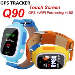 Wholesale Watch Phone Touch Screen Wifi - Wholesale- YourTribe New Q90 GPS Phone Positioning Fashion Children Watch 1.22 Inch Color Touch Screen WIFI SOS Smart Watch PK Q80 Q50 Q60