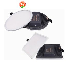 Wholesale Downlight 22w - NEW Flat LED Panel light Super thin recessed Downlight Square Round for home Kitchen 30W 22W 16W 8W integrated driver Free Ship