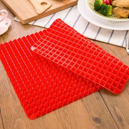 einweg-kuchen dosen Rabatt DHL-freies Verschiffen Rote Pyramide Bakeware Pan Nonstick Silikon Backen-Matten-Auflagen Moulds Kochen Mat Ofen Backblech Blatt Küchenhelfer