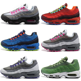 Wholesale Cheap Neon - Hot Sale New Women Air Neon Sports Shoes Cheap Girls Retro 95 Running Shoes Fashion Trainer Sneakers shoes Size US5.5-8.5
