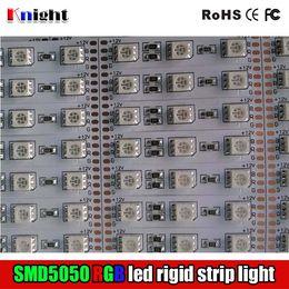 Wholesale Blue Smd Strip 1m - RGB SMD5050 rigid strip light bar 0.5M 0.8M 1M 1.2M,single color 3528 LED light bar 12v for cabinet avertising lamp box 2year guaranty 100m