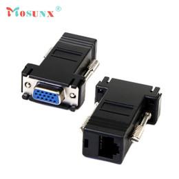 Vente en gros- Usine Prix MOSUNX Vente Chaude Nouveau VGA Extender Femelle À Lan Cat5 Cat5e RJ45 Ethernet Femelle Adaptateur Drop Shipping ? partir de fabricateur