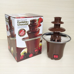 Wholesale Electric Chocolate Fondue Fountain - Chocolate Fondue Mini Chocolate DIY Fountain Household 3-tier Machine Choco Tree Eu Standard With English Manual (220V)