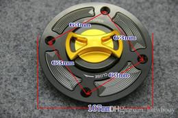 Wholesale Suzuki Oil Cap - Free shipping CNC aluminum alloy Motorcycle Fuel Gas Tank cap Cover For Suzuki GSXR600 GSXR750 GSXR1000 GSXR1300 Oil cans Cap