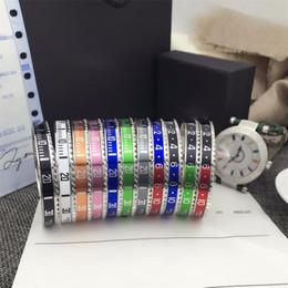 Style Italien Bracelet En Acier Inoxydable 316L Compteur De Vitesse Bracelet Officiel Bracelets Hommes Argent plaqué Bijoux De Mode 12 couleurs ? partir de fabricateur