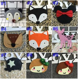 Wholesale Owl Purses Backpacks - 27 Style Ins Owl Kids Bags Purses Baby Girl Fox Cat Coin Children Accessories Animal Purses Cartoon Minnie Body Coin Purse wallet B