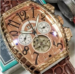 Wholesale Watch Logo Calendar - New Mechanical brand Mens luxury swiss watches High quality automatic movement Unique texture pointer Leather with logo Flywheel Watch 2017